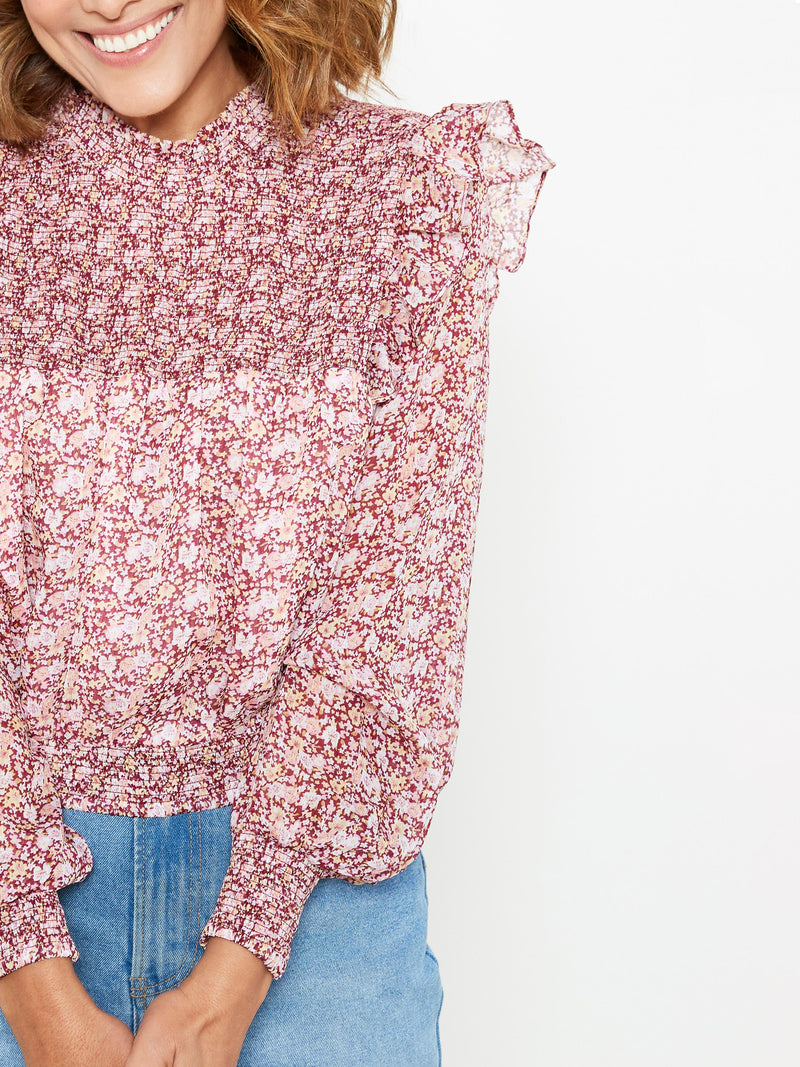LIKE I DO FLORAL BLOUSE