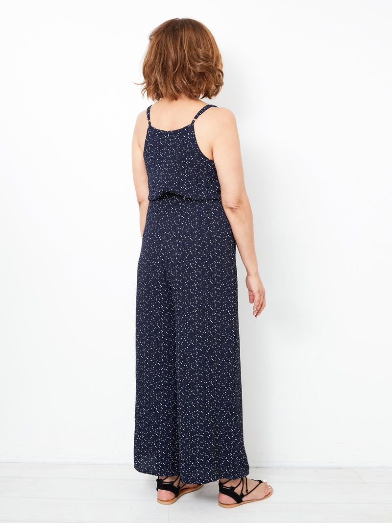 LIVE & SHINE NAVY JUMPSUIT