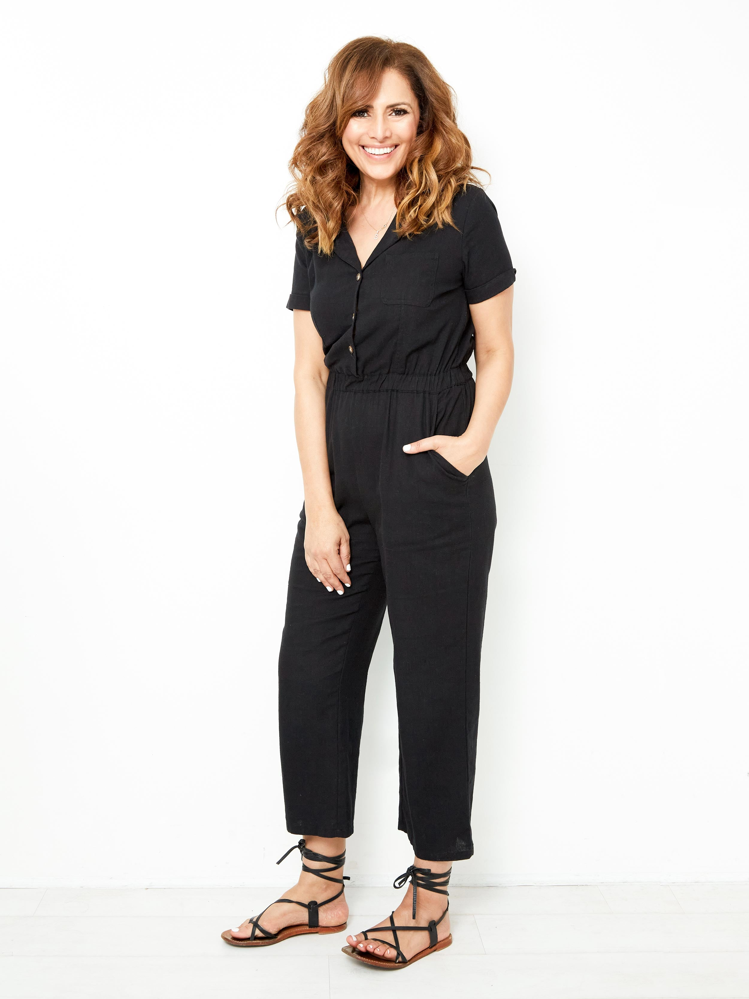 LIVING FOR THE WEEKEND BLACK JUMPSUIT