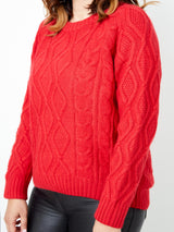 LOVE VISIONS RED KNIT