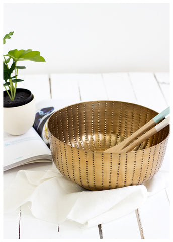 MARNI HAMMERED BOWL - BRASS