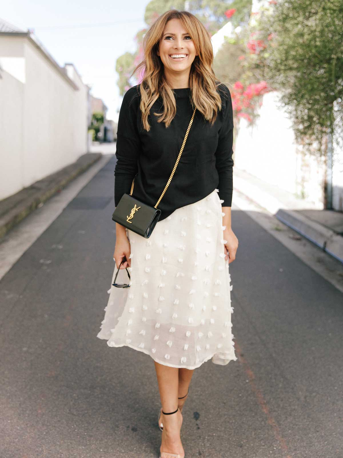 TRUE ROMANTIC EMBROIDERED SKIRT- CREAM