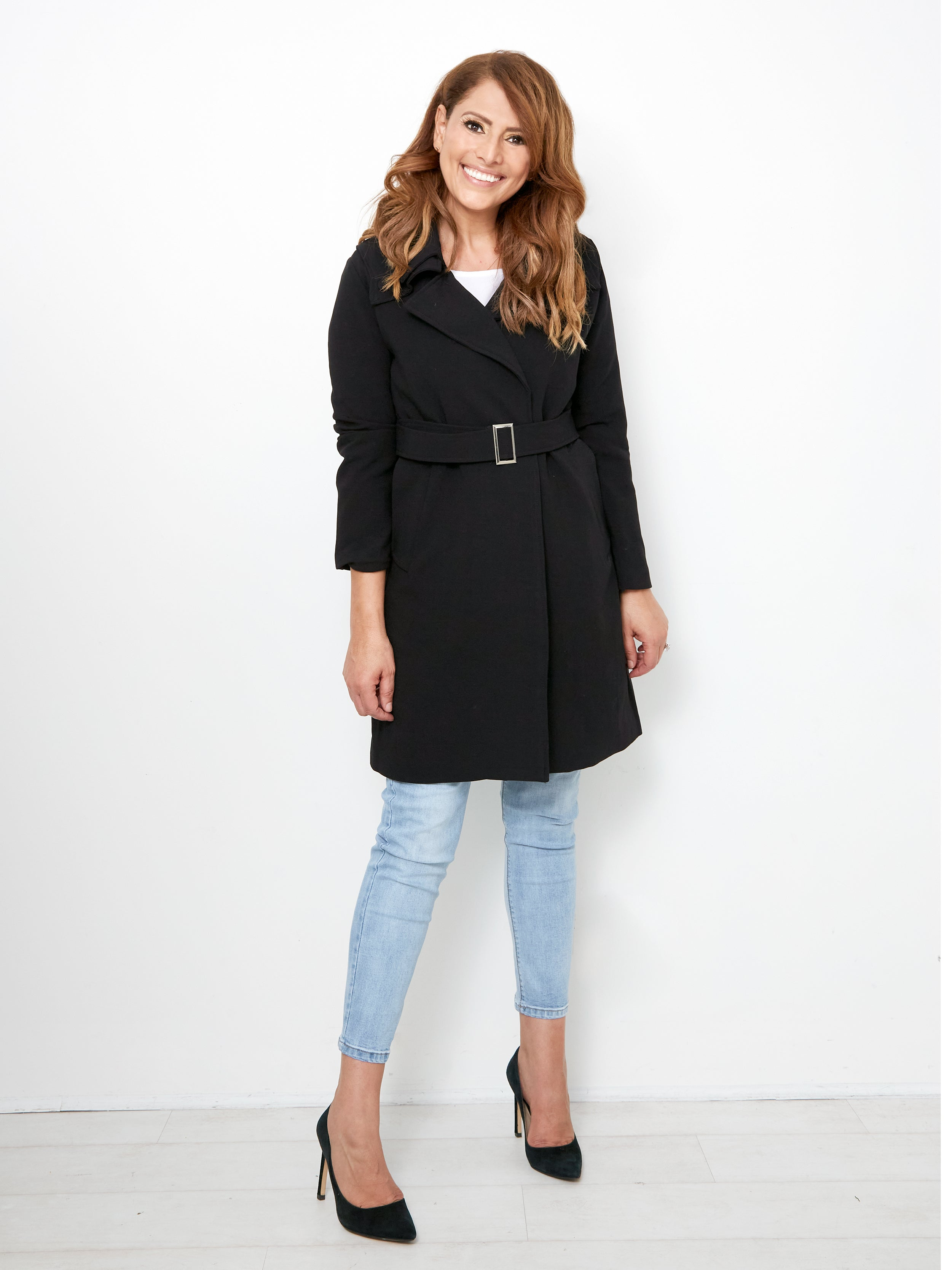 MIDNIGHT IN PARIS CLASSIC BLACK TRENCH