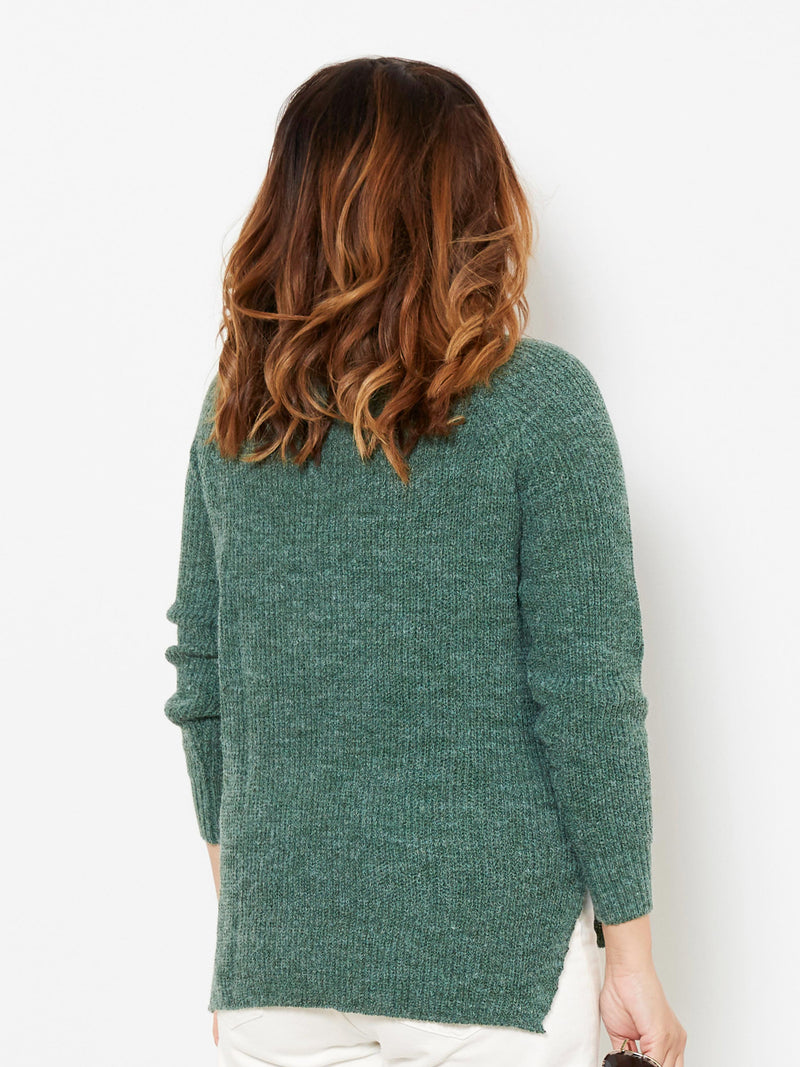 MIDNIGHT MOMENT GREEN KNIT