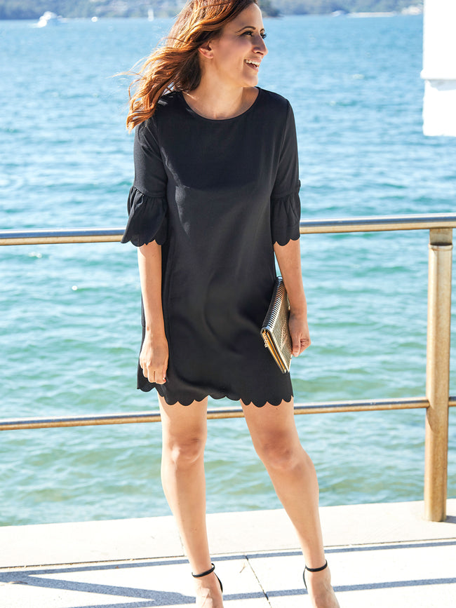 NEW ROMANTIC BLACK DRESS