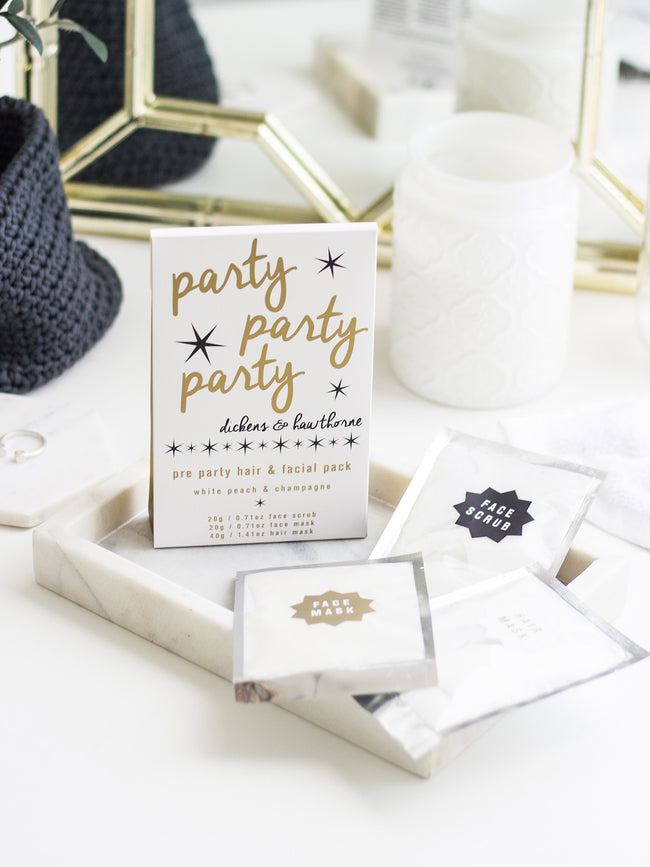 PARTY PAMPERING PACK - WHITE PEACH & CHAMPAGNE