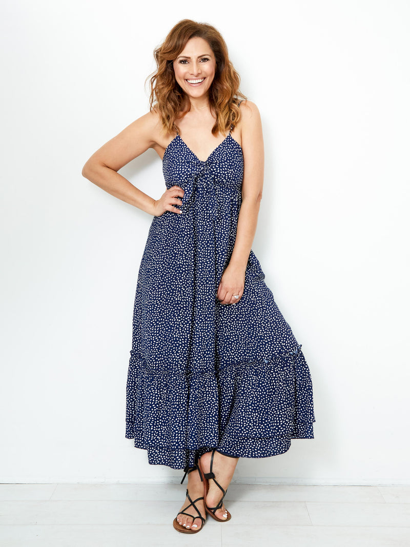 OF THE ESSENCE NAVY DRESS