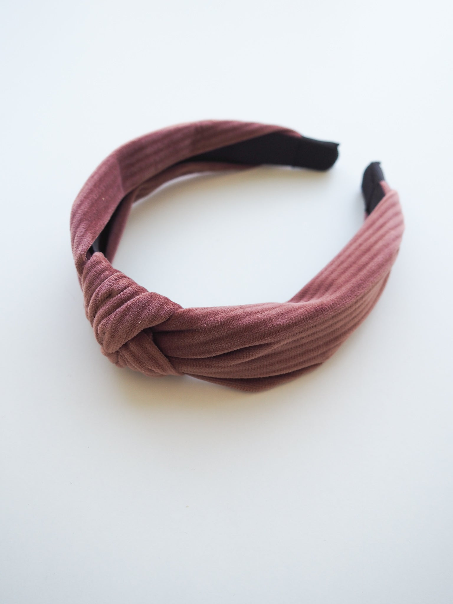 HELLO DARLING HEADBAND IN DUSTY PINK