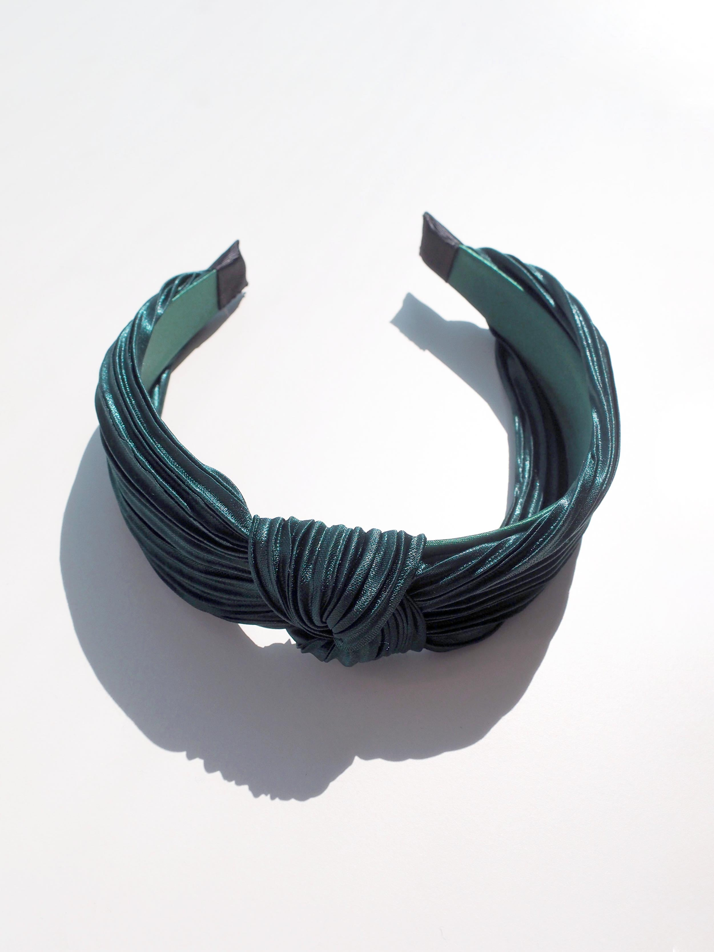 HELLO DARLING HEADBAND IN DEEP GREEN