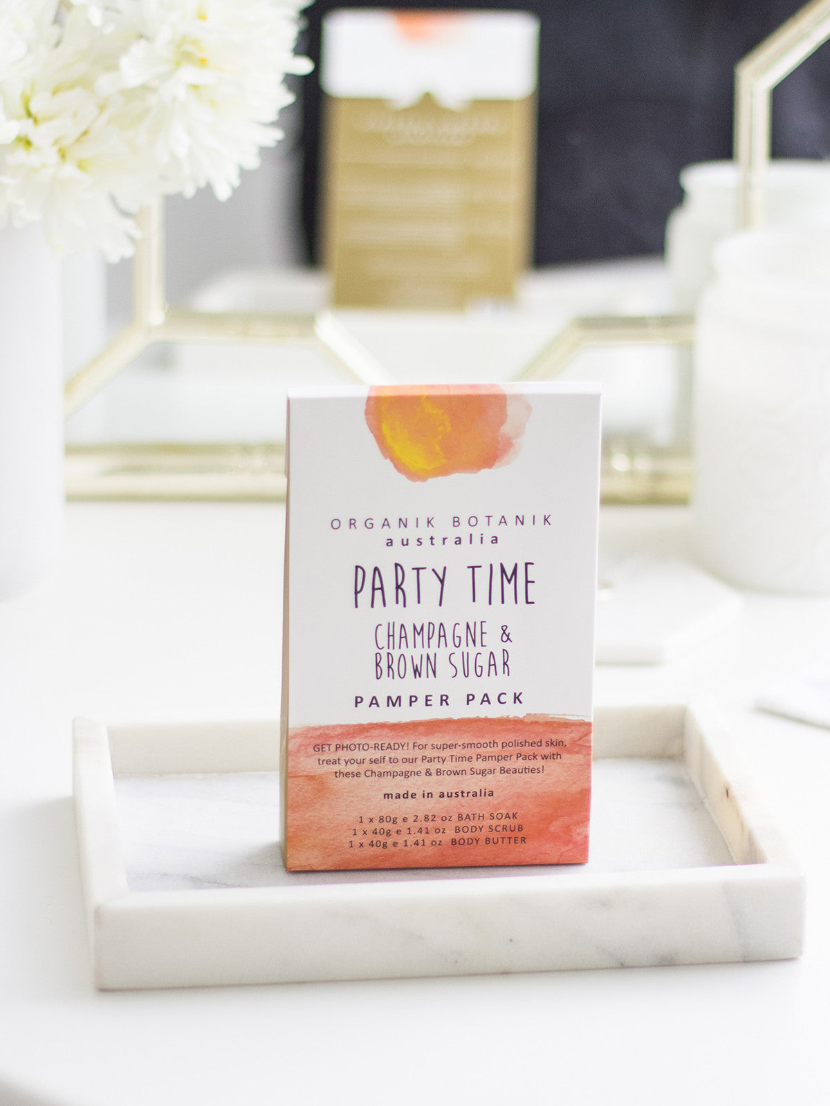 PARTY TIME CHAMPAGNE & BROWN SUGAR PAMPER PACK