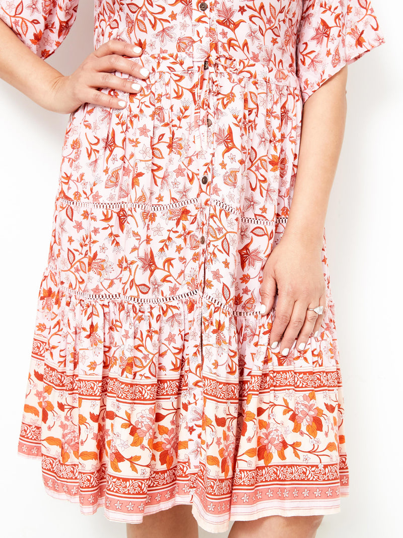 PARADISO VIBES FLORAL DRESS