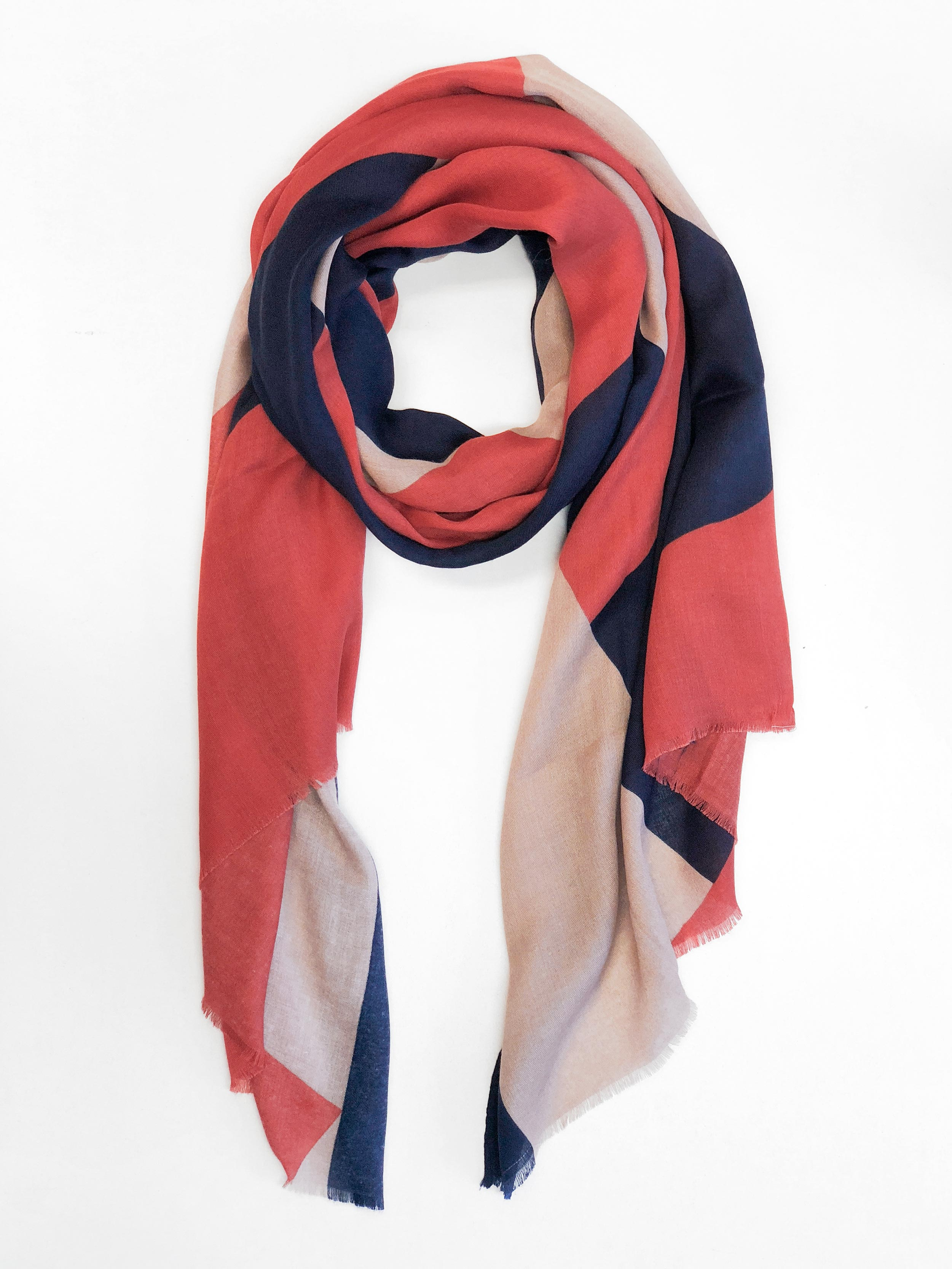 PARIS TO LONDON PRINTED SCARF