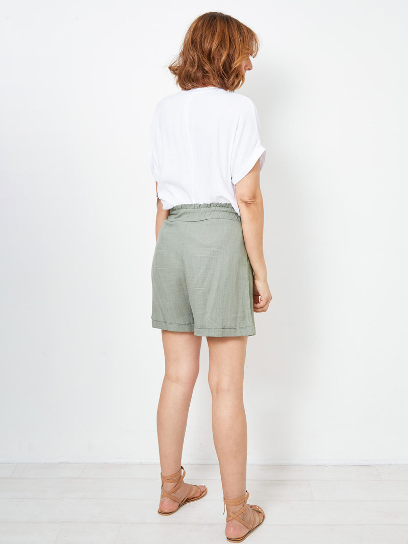 PASSAGE OF LOVE KHAKI SHORTS