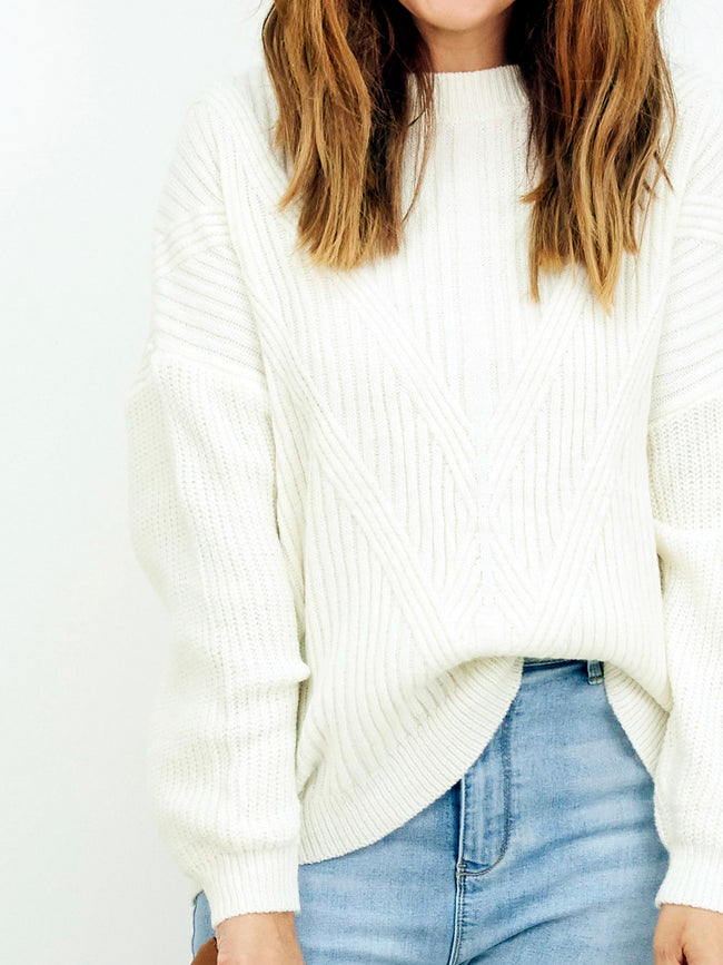 RIGHT AT HOME CREAM KNIT
