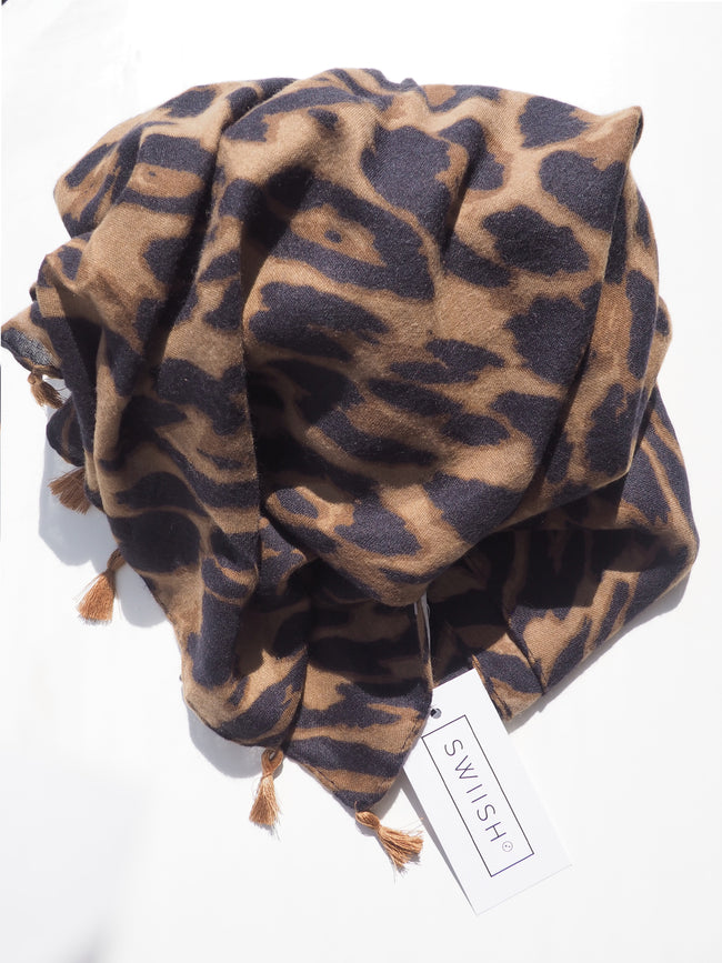 FOREVER COSY LEOPARD SCARF