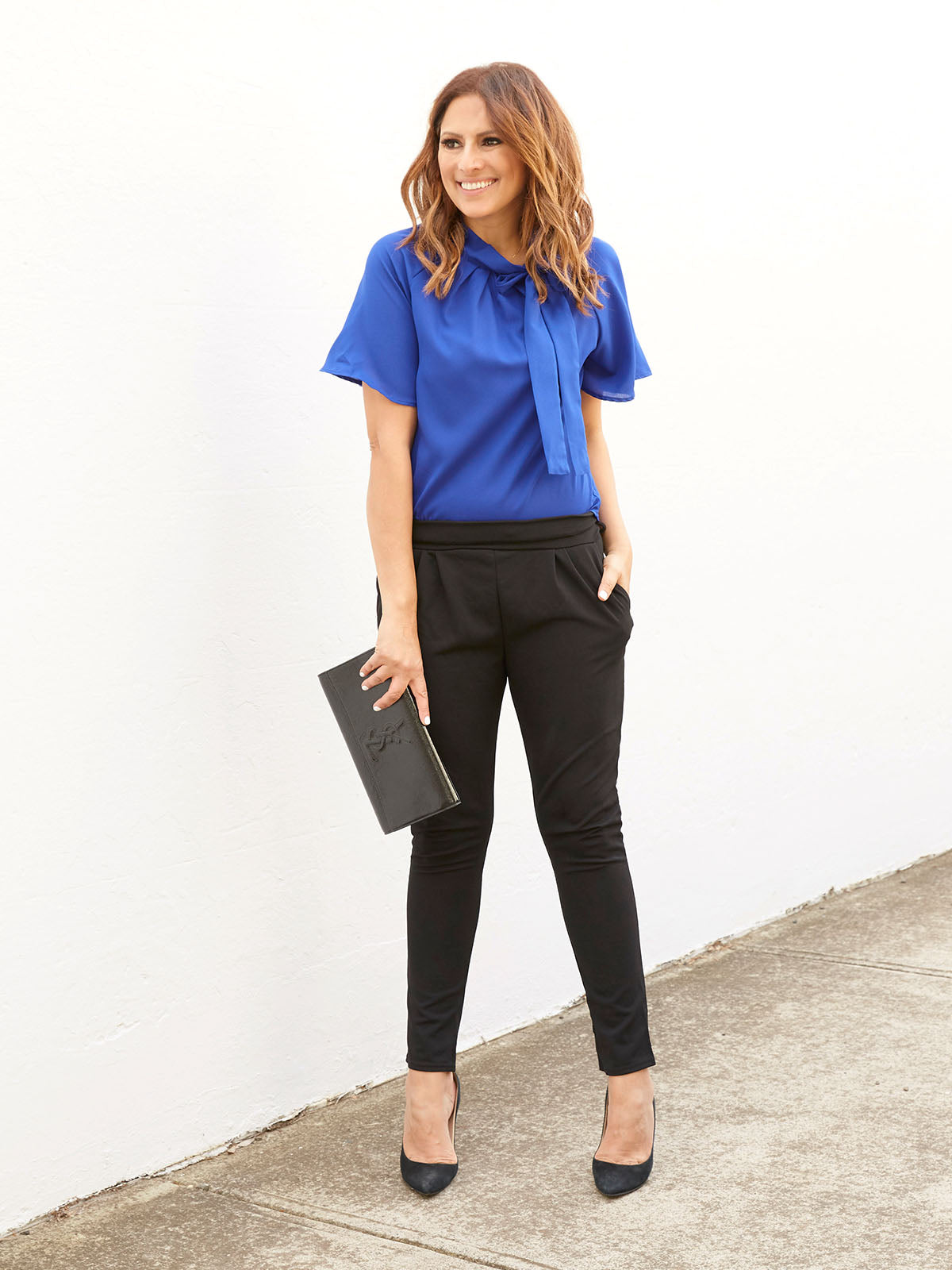 MODERN BEAUTY BLOUSE IN ELECTRIC BLUE
