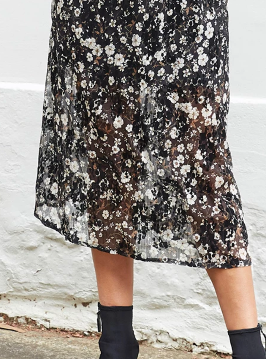 COME INTO MY WORLD FLORAL MAXI DRESS