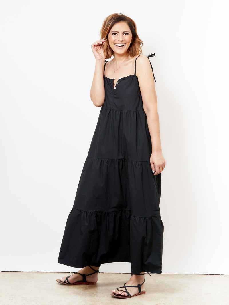 SEASIDE DAYZE BLACK MAXI DRESS