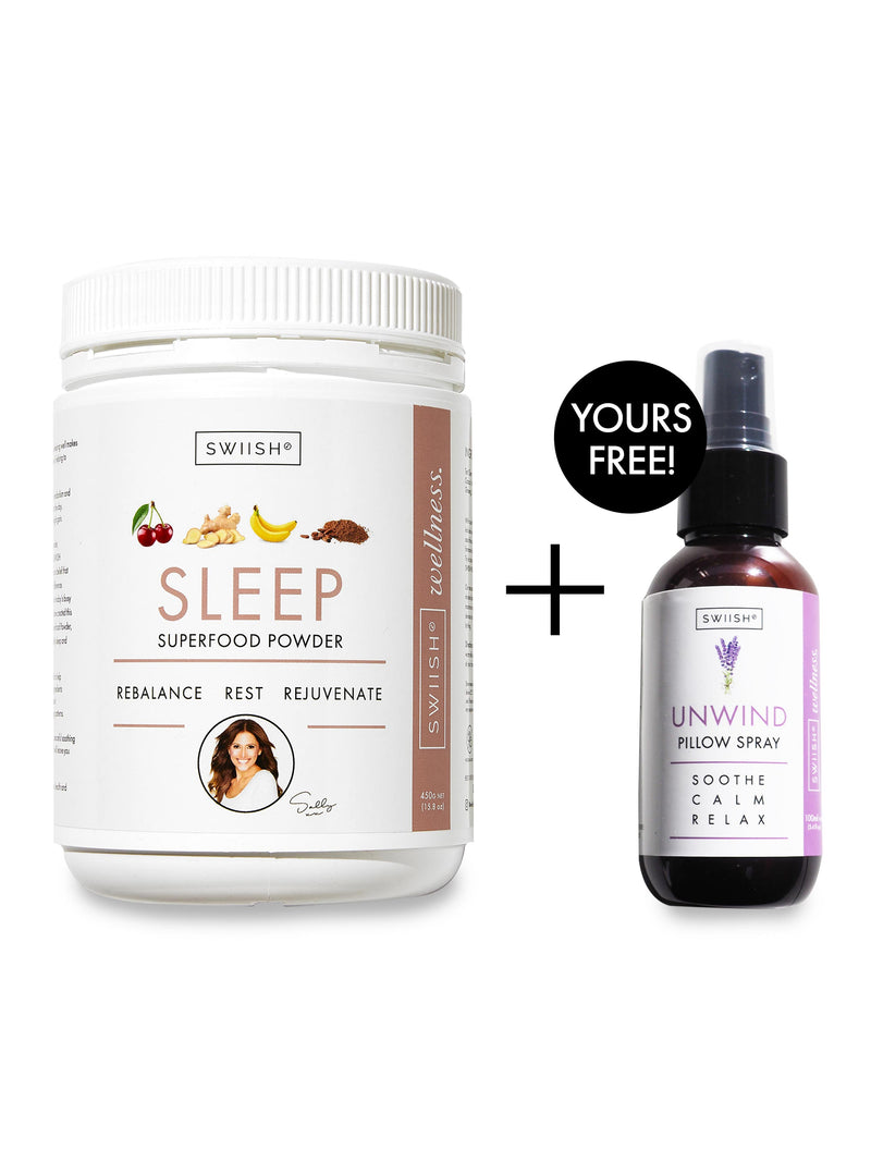 FREE GIFT - UNWIND LAVENDER SLEEP & PILLOW SPRAY - WITH SLEEP SUPERFOOD POWDER - 450G