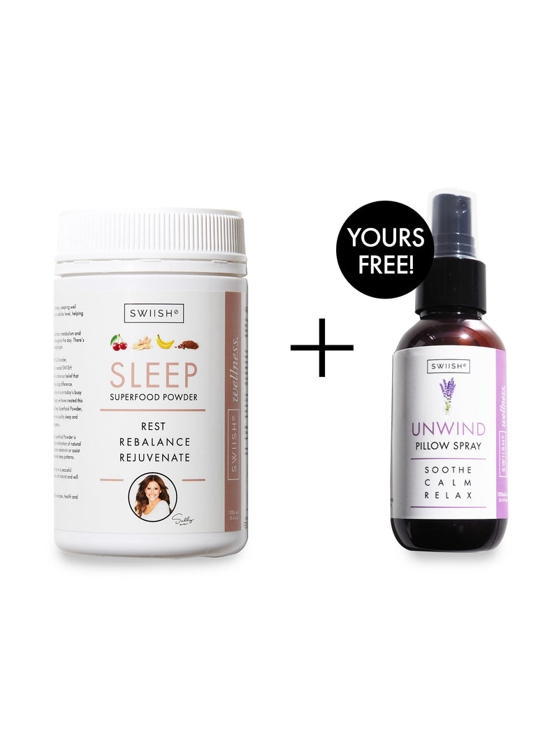 FREE GIFT - UNWIND LAVENDER SLEEP & PILLOW SPRAY - WITH SLEEP SUPERFOOD POWDER - 150G