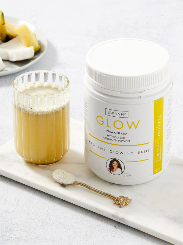 GLOW PINA COLADA HYDROLYSED COLLAGEN POWDER (Spring Special)