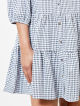 SUMMER OF LOVE BLACK CHECKED DRESS