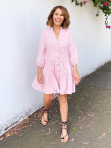 SUMMER OF LOVE PINK CHECKED DRESS