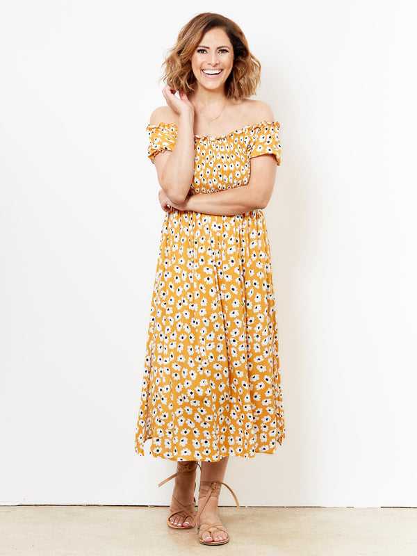 SUNSHINE LOVE FLORAL DRESS