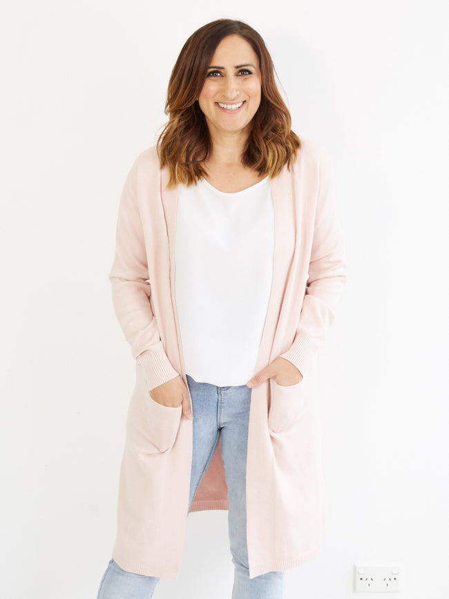 THE MAGIC OF DESIRE PINK CARDIGAN