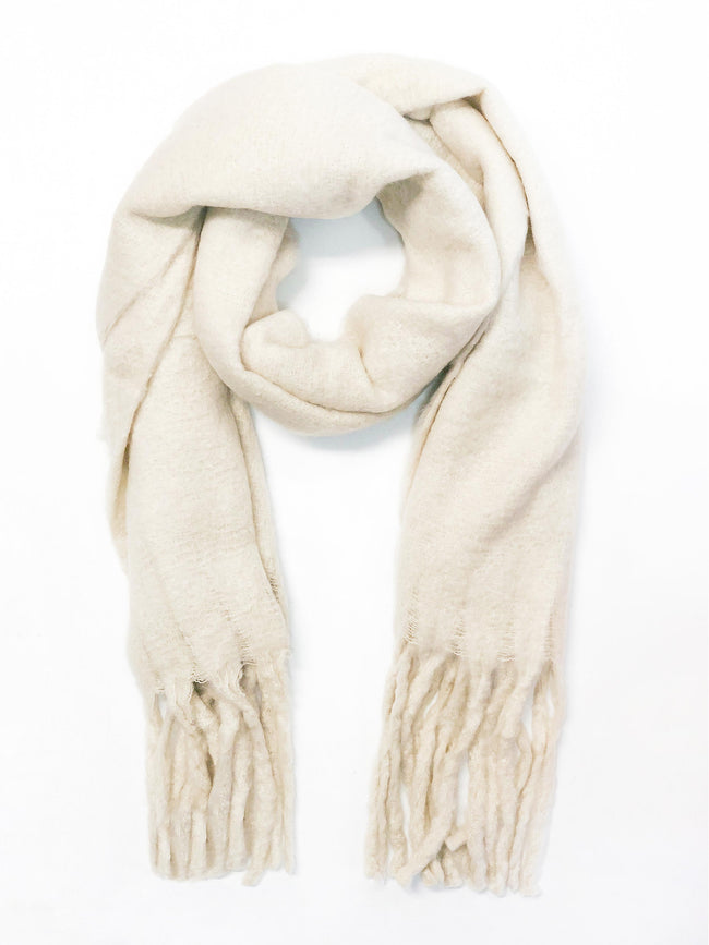TOGETHER FOREVER CREAM SCARF