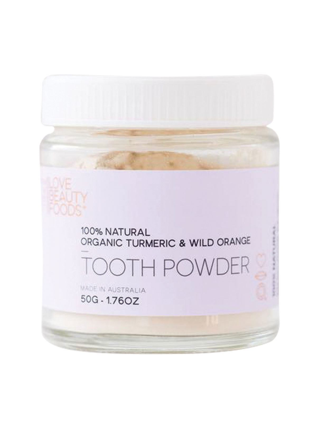 TOOTH POWDER - WILD ORANGE AND ORGANIC TURMERIC