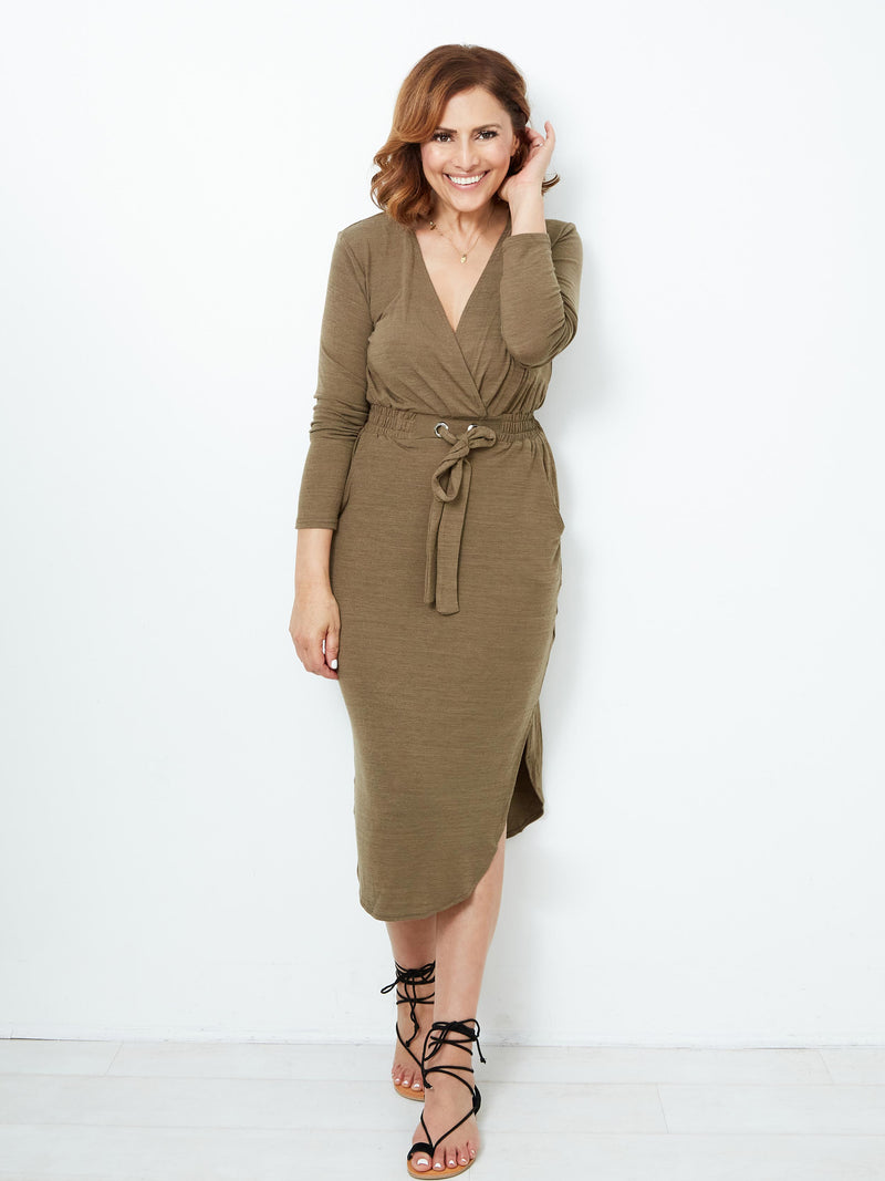 URBAN LIGHT KHAKI DRESS