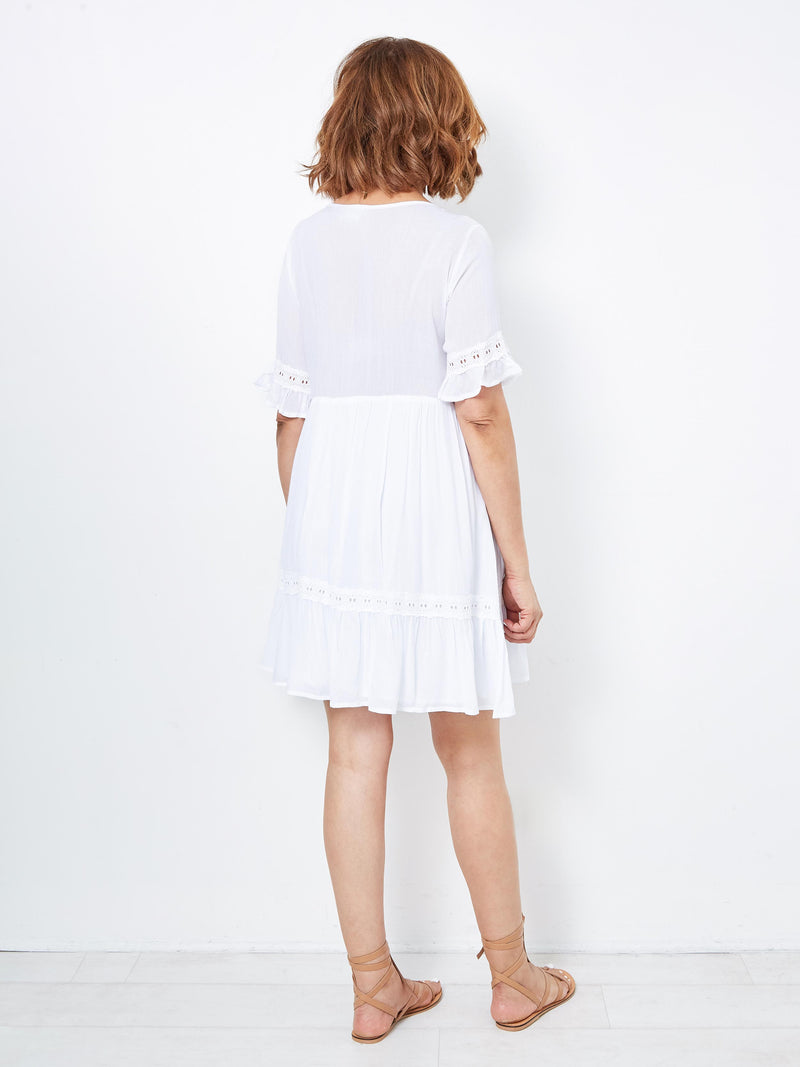 VISION OF BEAUTY WHITE DRESS
