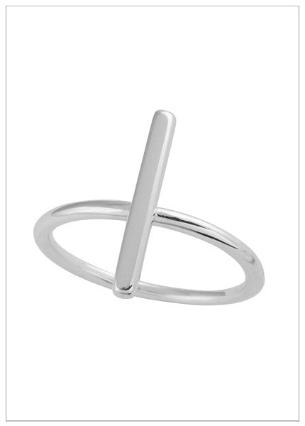 WILLOW BAR STERLING SILVER RING