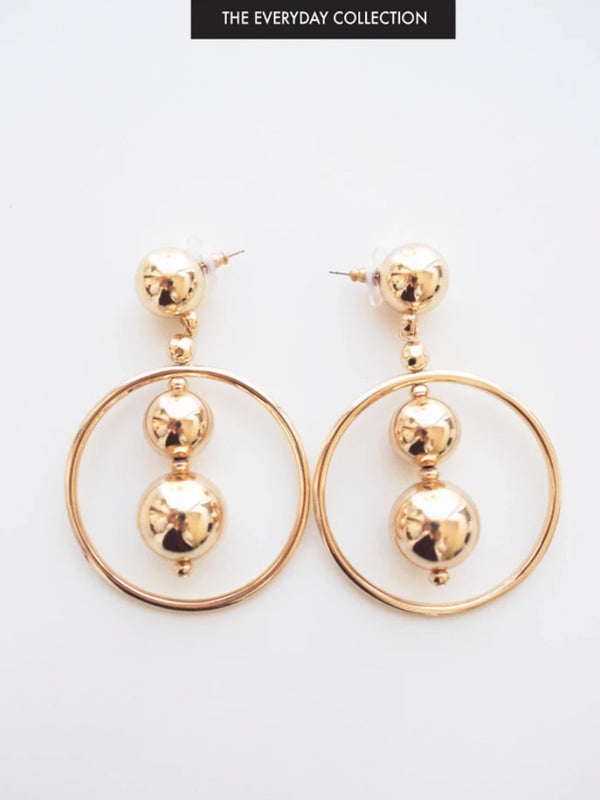 ANGEL LOVE GOLD EARRINGS