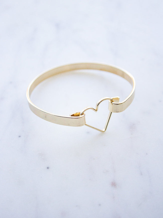 BEAT OF MY HEART GOLD BRACELET