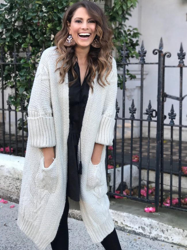 WINTER WONDERLAND KNIT CARDI