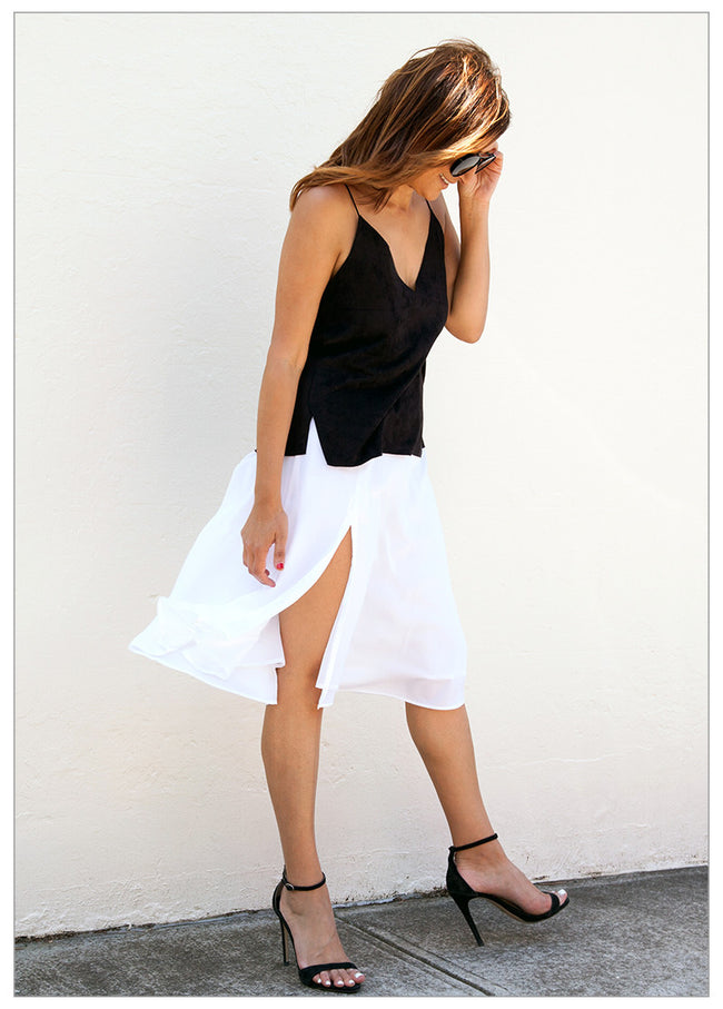 SULTRY SUMMER NIGHTS MIDI SKIRT