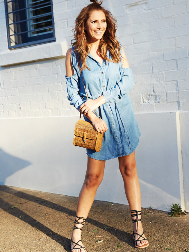 DREAM SEEKER DENIM DRESS