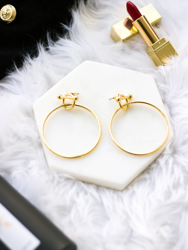 LET ME LOVE YOU GOLD HOOP EARRINGS