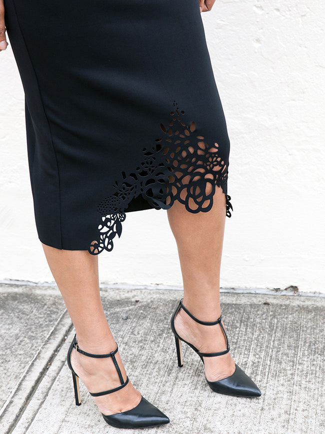 ELLA LASER CUT SKIRT