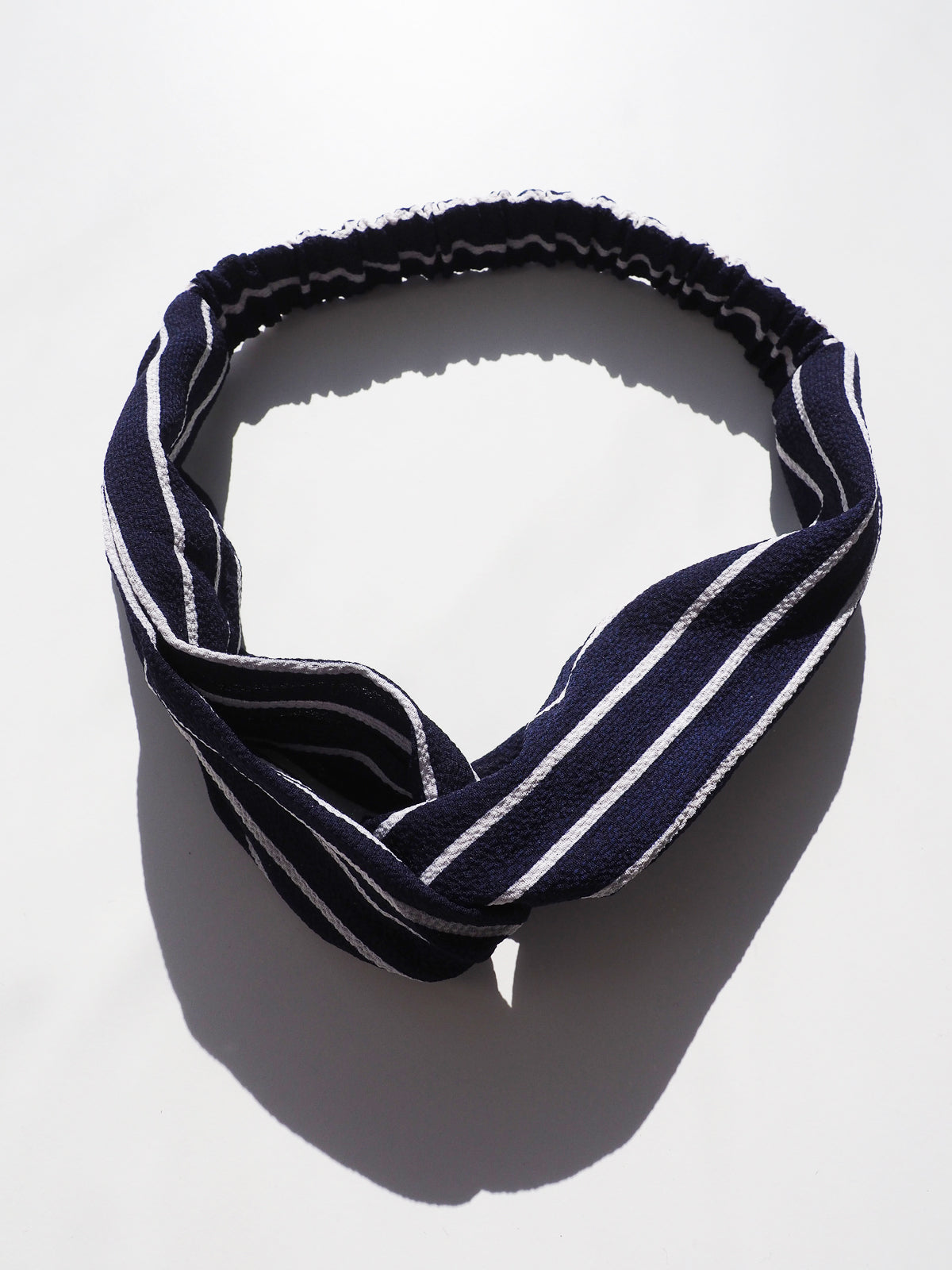 EVERYDAY GLAMOUR HEADBAND - NAVY & WHITE STRIPE