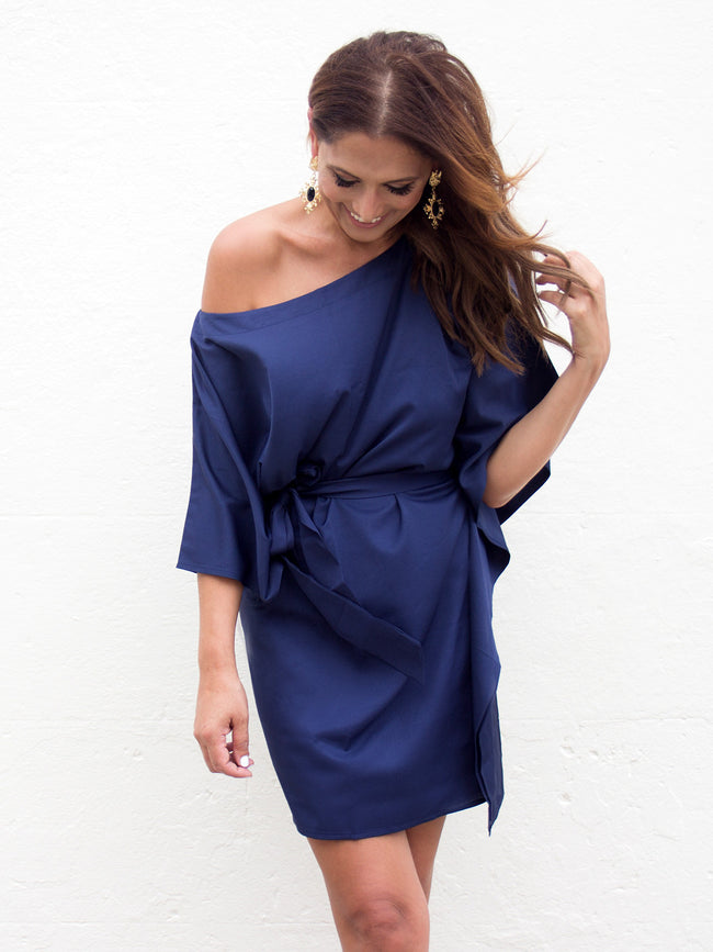 FALLING FOR YOU NAVY DRESS