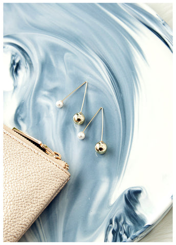 FLAWLESS GOLD & PEARL EARRINGS