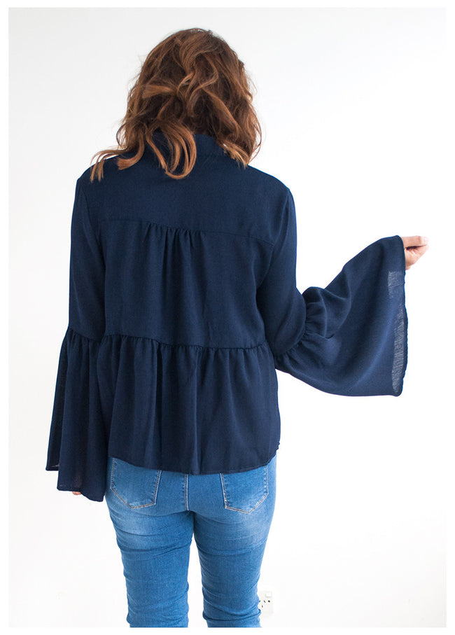 FREE TO DREAM NAVY TOP