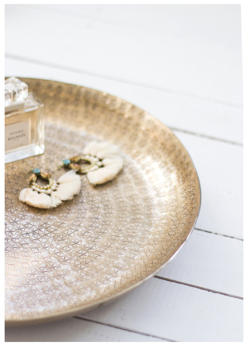 THE VINTAGE LUXE GOLD TRAY