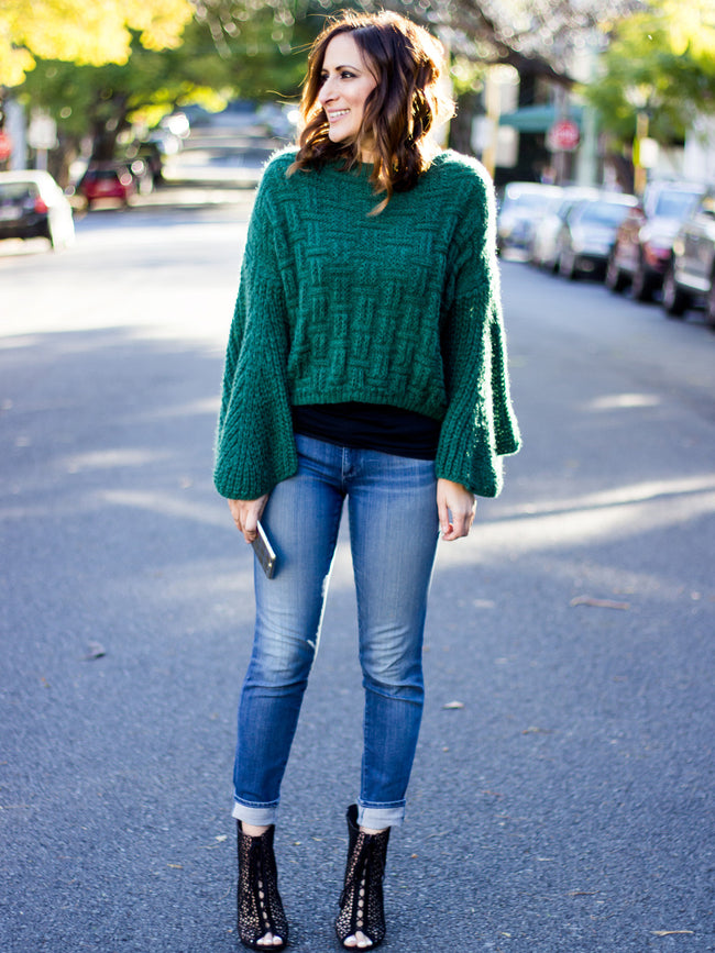 GREEN WITH ENVY KNIT JUMPER