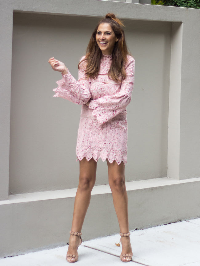 HELLO LOVER BLUSH DRESS
