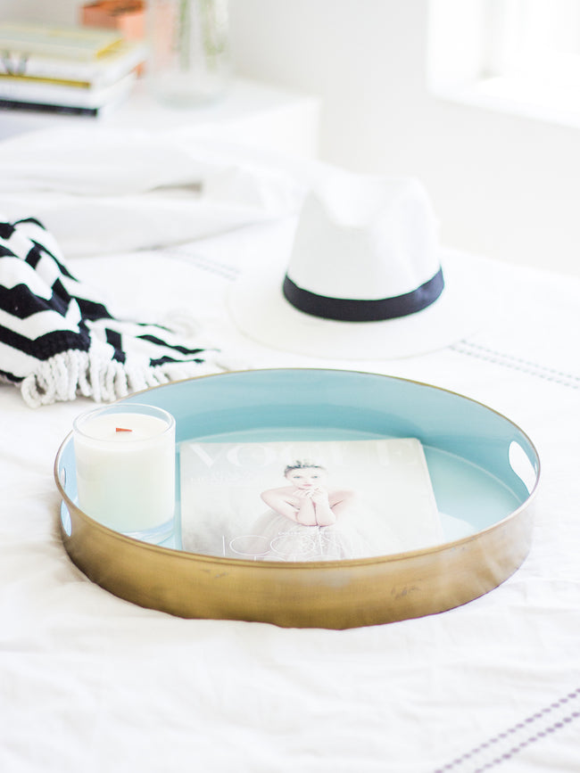 SUMMER BY THE SEA LUXE TRAY- LIGHT BLUE