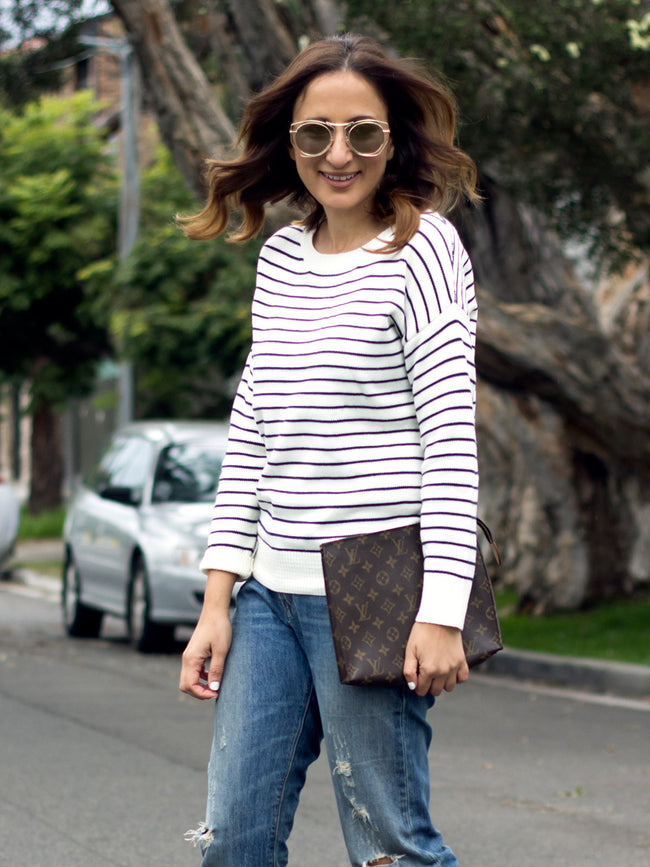 LIVING FOR THE MINUTE STRIPED JUMPER